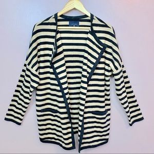 LAND'S END STRIPED KIMONO JACKET/CARDIGAN